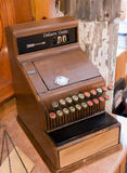 Vintage cash register. An old cash register that doesn't have a very large denomination Royalty Free Stock Images