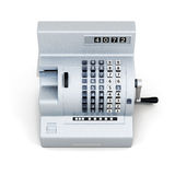 Vintage cash register  on white background. 3d render im Stock Images
