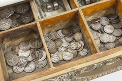Vintage Cash Resister Money Drawer Stock Image