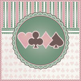 Vintage casino background with poker elements Royalty Free Stock Photos