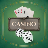 Vintage casino background Royalty Free Stock Photography
