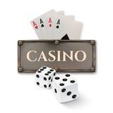 Vintage casino background Royalty Free Stock Image