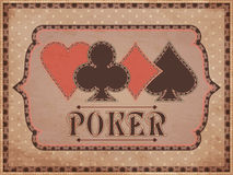 Vintage casino background Stock Photography