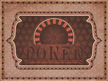 Vintage casino background Royalty Free Stock Images