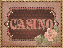 Vintage casino background Royalty Free Stock Image