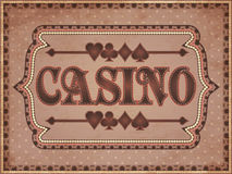 Vintage casino banner Royalty Free Stock Photos