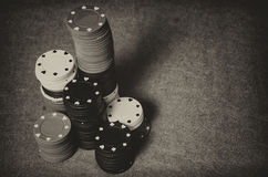 Vintage casino chips Stock Photo
