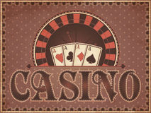 Vintage Casino invitation card Stock Photography