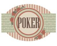 Vintage casino poker banner, vector Royalty Free Stock Photo