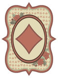 Vintage casino poker diamonds card, vector Stock Image