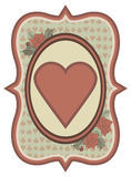 Vintage casino poker hearts card, vector Stock Photo