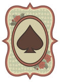 Vintage casino poker spades card, vector Stock Photography
