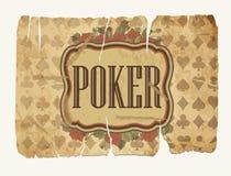 Vintage casino poker wallpaper, vector Stock Photos