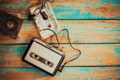 Vintage cassette player stock photos