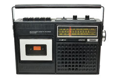 Retro radio cassette player Royalty Free Stock Photos