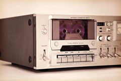 Vintage cassette stereo tape deck recorder Royalty Free Stock Photo