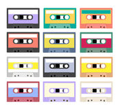 Vintage cassette tape collection Royalty Free Stock Photography