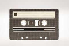 Vintage cassette tape. Old vintage cassette tape that is scratched and full of dust particles royalty free stock photos