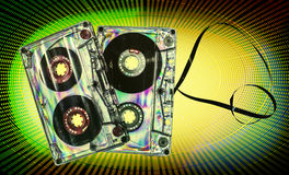 Vintage cassette tape Stock Images