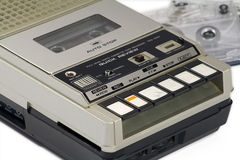 Vintage cassette tape recorder Royalty Free Stock Images