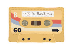 Vintage cassette tape stitched together Royalty Free Stock Photography