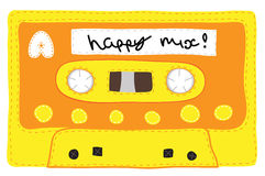 Vintage cassette tape stitched together Stock Photos