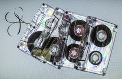 Vintage cassette tapes Stock Images