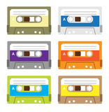 Vintage cassette tapes Royalty Free Stock Photo