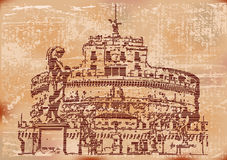 Vintage Castel Sant Angelo Stock Photo