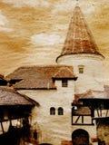 Vintage castle Dracula. A vintage castle Dracula of Romania Stock Image