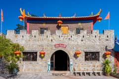 Vintage castle at Santi Chon Chinese village in Pai district Royalty Free Stock Image