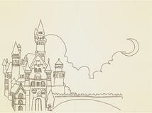 Vintage Castle. Vector File EPS10 Royalty Free Stock Image