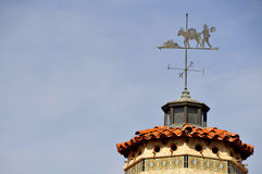 Vintage Castle Weathervane Stock Images