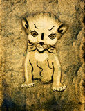 Vintage cat cartoon Stock Image