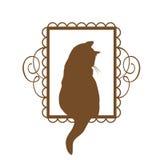 Vintage Cat Design Fotografía de archivo libre de regalías