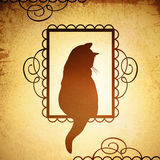 Vintage Cat Design Royalty Free Stock Photos