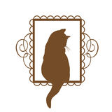Vintage Cat Design Royalty Free Stock Photography