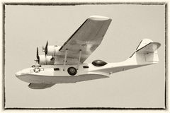 Vintage Catalina flying boat Royalty Free Stock Photography