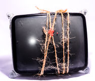 Vintage Cathode Ray Tube CRT. Wrapped with Twine Stock Photo