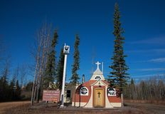 Vintage Catholic Church Beaver Creek Canada Royalty Free Stock Image