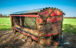 Vintage Cattle Feeder Stock Photo
