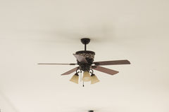 Vintage ceiling fan Stock Image