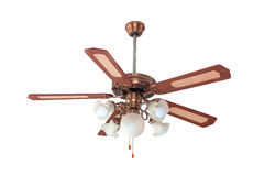 Vintage ceiling fan and lamp Royalty Free Stock Photos