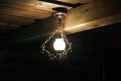 Vintage Ceiling Pendant Lamp Light Stock Photo