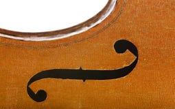 Vintage cello edge close up isolated on white. Background royalty free stock image