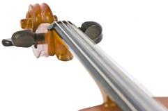 Vintage cello neck isolated on white. Vintage neck isolated on white background royalty free stock photo