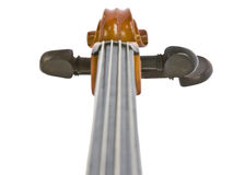 Vintage cello neck isolated on white. Vintage neck straight view isolated on white background stock images