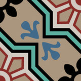 Vintage cement tiles vector illustration