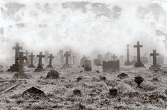 Vintage Cemetery Background Stock Photo