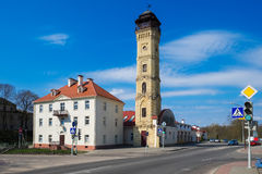 Vintage Central Fire tower. Grodno, Belarus. Royalty Free Stock Photos